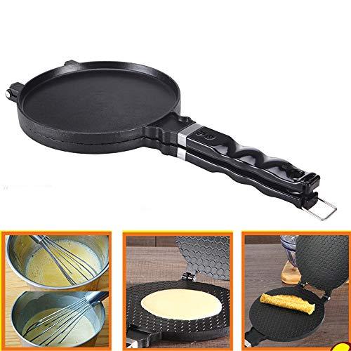 TAMUME Cono Gelato Waffel Piastra Cono Crêpière Pan per Croccante Frittata (Cone Waffle)