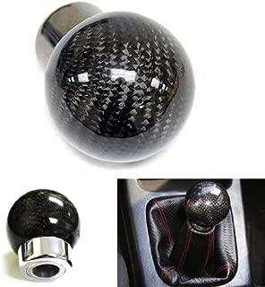 iJDMTOY Real Carbon Fiber Shift Knob for Honda Acura Lexus Toyota Scion Mazda Mitsubishi Nissan Infiniti & More