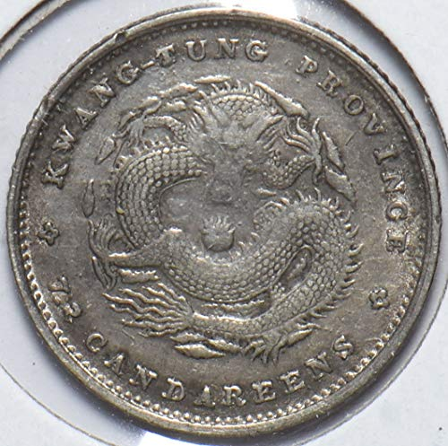 1891 CN China 1891 10 Cents Dragon animal Kwang-tung 490178 DE PO-01