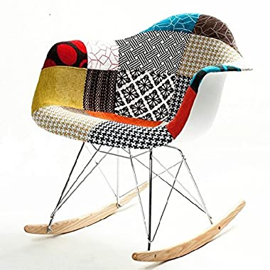Fine Mod Imports FMI10098-colored Patterned Rocker Arm Chair