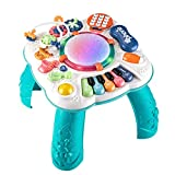 Dahuniu Baby Toys 6 to 12 Months, Learning Musical Table, Activity Table for 1 2 3 Years Old ( Size: 11.8 x 11.8 x 12.2 inches )