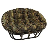 Blazing Needles Patterned Tapestry Double Papasan Chair Cushion, 58' x 6' x 78', Cheetah