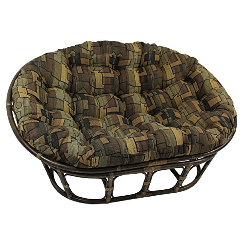 Blazing Needles Patterned Tapestry Double Papasan Chair Cushion, 48' x 6' x 65', Hypotenuse