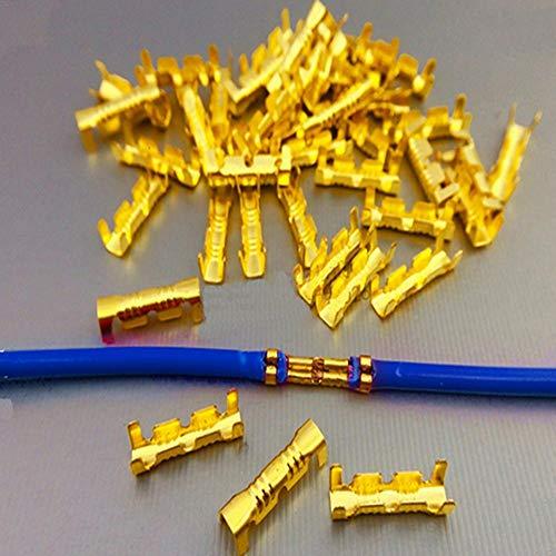 myonly 200 Conectores termorretráctiles en Forma de U aislados para terminales de Cables Marinos de automóviles - Conectores de Tope para Anillos, Palas, empalmes de Bullet