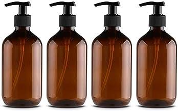 4PCS Empty Lotion Pump Bottles Plastic Shampoo Shower Gel Bottle 500ML Hand Soap Container Dispenser Spray