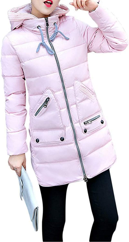 Acelyn Women's Hood Winter Coat Overcoat Long Down Parka Jacket Outwear