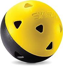 كرات صدمية لرياضة الغولف من سكلز كرات تدريب ترو-فلايت محدودة مقاومة للنتوءات، لون اصفر