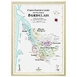 La Carte des Vins de Bordeaux Affiche 70 x 100 cm (+5 €)