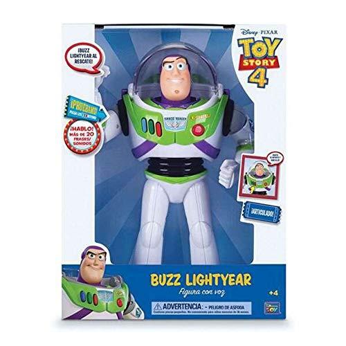Toy Story Figura Buzz Lightyear con voz 30 cm (BIZAK 61234070), modelos surtidos