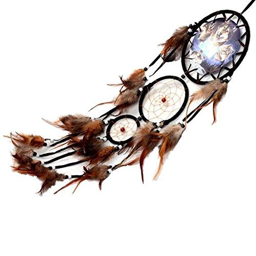 Handgemachte Traumfänger Schlüsselanhänger Wolf Muster Hängende Ornament
