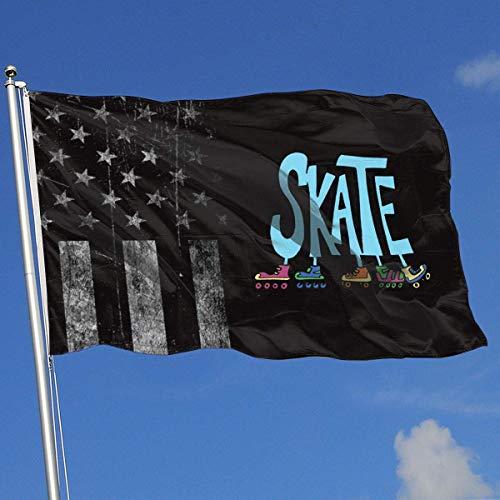 AOTADer Outdoor Flags Abgenutzte USA Flagge Rollschuhe Flagge für Sportfan Fußball Basketball Baseball Hockey