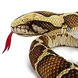 Kuscheltiere.biz Tigerpython ZÜNGLI Schlange Plüschschlange Python 150 cm Plüschtier