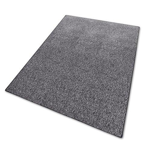 casa pura® Teppich mit GUT-Siegel | viele Größen | grau | Qualitätsprodukt aus Deutschland | für Wohnzimmer, Kinderzimmer, Flur etc. (160x230 cm)