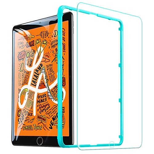 ESR Screen Protector for iPad mini 5 2019/iPad mini 4 2015 Released, [1 Pack][Free Installation Frame], [Scratch-Resistant] 9H Hardness HD Clear Premium Tempered Glass Screen Protector, 1 Pack