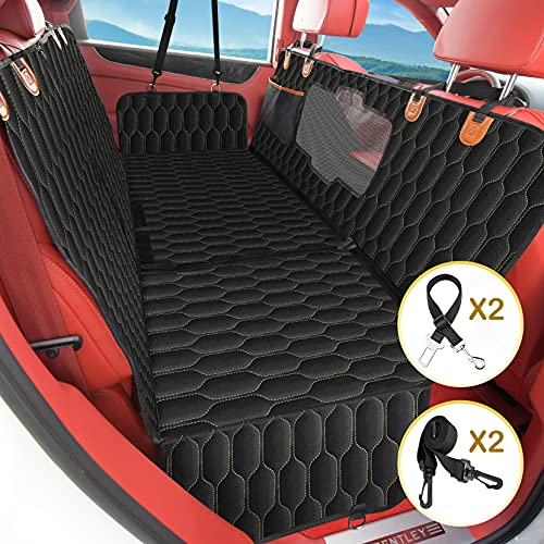 4-in-1 Dog Car Seat Cover, Backseat Dog Cover for Car, Convertible Pet Hammock for Large Dogs with...