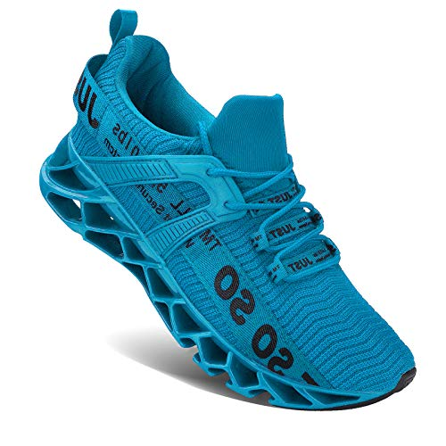 Wonesion Herren Schuhe Laufschuhe Herren Damen Sportschuhe Straßenlaufschuhe Sneaker Joggingschuhe Turnschuhe Walkingschuhe Traillauf Fitness Schuhe,4 Sky Blue,41