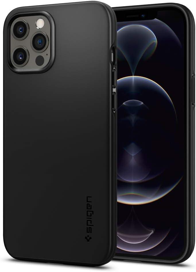 Spigen Thin Fit Designed for iPhone 12 Pro Max Case (2020) - Black