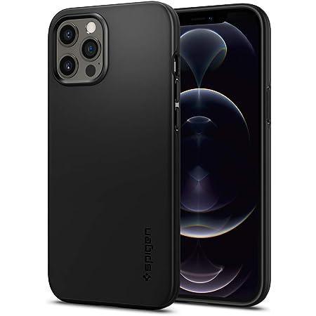 Spigen iPhone12Pro Max 用 ケース 2重構造 米軍MIL規格取得 超極薄 レンズ保護 超薄型 超軽量 指紋防止 マット仕上げ シン・フィット ACS01612 (ブラック)