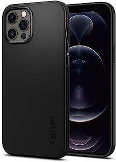 Spigen Funda Thin Fit Compatible con iPhone 12 Pro MAX - Negro