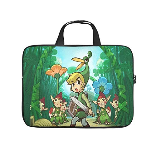 The Legend of Zelda the Minish Cap Laptop Bag Scratch Resistant Laptop Protective Case Colourful Notebook Bag for University Work Business