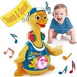 Juguetes Niños 1 año Bailando Caminando Pato Hip Hop con Luz y Sonido, Juguetes Interactivos Musicales Educativo Temprano Juguetes Niños 2 3 años Regalo de Cumpleaños para Niños Niñas