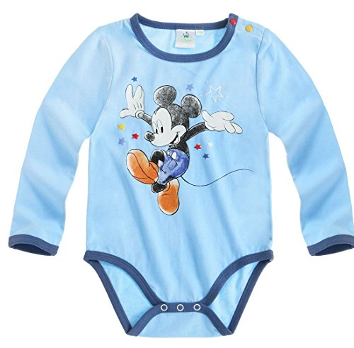 Body manches longues bébé garçon Mickey Bleu de 3 à 24mois (24 mois)