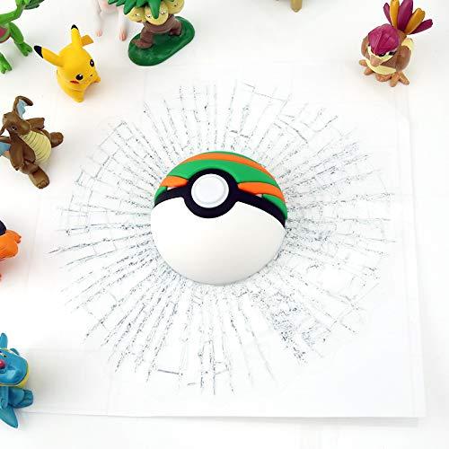 tonywu Pegatinas de Vidrio Roto de Billar Loco 3D, Suministros de decoración de automóviles, Papel Tapiz Negro de Ocho Bolas Elf Ball, murales de Personalidad a Prueba de Agua 180 * 180Mm Nest Ball