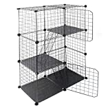 jxgzyy DIY Small Animal Cage DIY Pet Playpen Wire Cage with Ladders for Kitten, Rabbit,Chinchilla 24 Pieces.