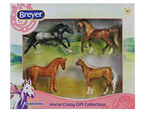 Breyer 1:32 Stablemates Model Horses: 4-Piece Horse Crazy Gift Collection