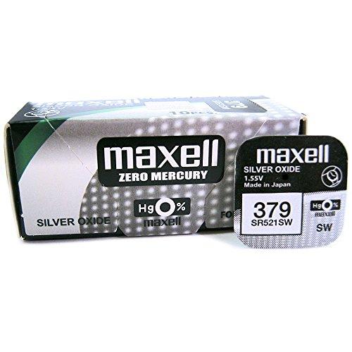 Maxell SR521SW 1,55 V Silberoxid Batterie (5 Stücke pro Packung)