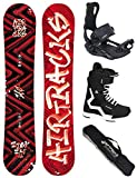 AIRTRACKS Snowboard Set (Paquete Completo) Tabla Dirty Brush Wide+Fijaciones Master+Botas+SB...
