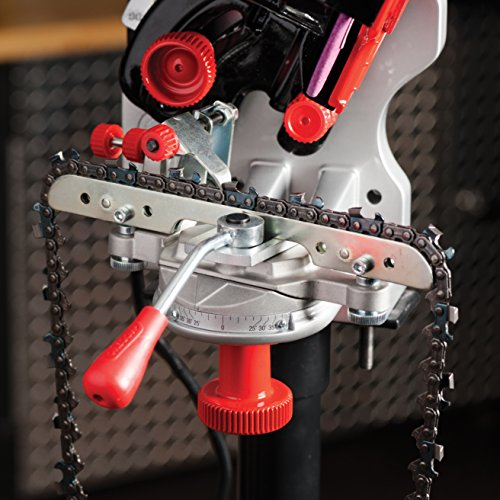 Oregon 120 Volt Bench/Wall Mounted Saw Chain Grinder, Professional Sharpener for Chainsaw Chains, Sharpens Oregon, Stihl, Husqvarna Chains and More (410-120)