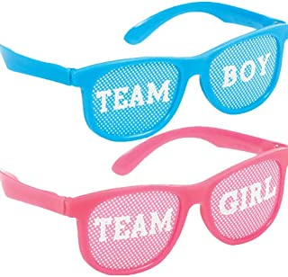 Amscan Girl or Boy? Glasses 10 Pieces - 250555, Blue/Pink