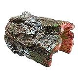 OMEM 爬虫類シェルター 隠れ家 木の洞窟 生息地の装飾 模造樹皮樹脂隠し巣 ペット用品