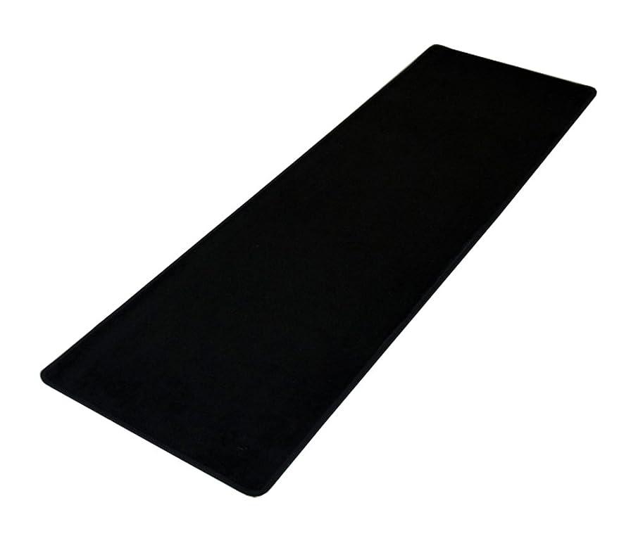 エイリアン先駆者刺激する防水して滑り止めして抗菌 洗える オールシーズン フランネルキッチンマット ラグマット マット ラグカーペット できる折り畳 む長いじゅうたん ブラック