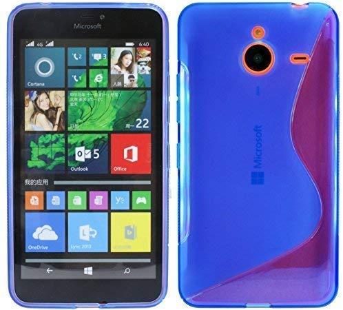 ENERGMiX S-Line TPU SchutzHülle kompatibel mit Microsoft Lumia 640XL Silikon Hülle in Blau