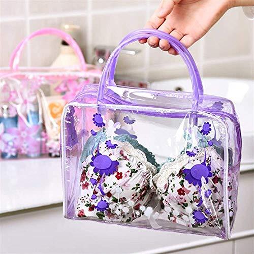 XWYSNH Sac cosmétique de Fleur Trousse de Toilette imperméable Sac de Rangement for Organisateur de Voyage S6N8H3 (Couleur : Violet)