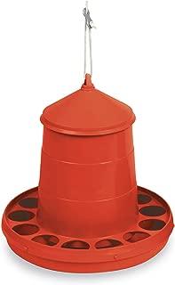 ベルバード 鳥用・ニワトリ用 自動給餌器 (赤, 2kg)
