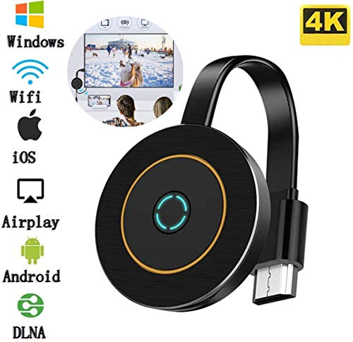Wifi Display Dongle Wireless Adapter, 4K HDMI, Audio en Video Display Receiver Sharing Media, Compatibel met iOS/Android/Samsung/iPhone/iPad/Projector/TV/Mac/Windows