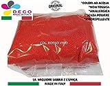 Deco Made in Italy Sabbia Naturale Colorata 0,5 mm Sacchetto da 1kg - Sabbia Colore Rosso
