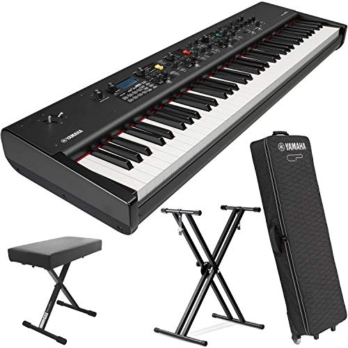 Sale!! Yamaha CP73 73-Key Weighted Hammer Action Stage Piano (w/Sustain Pedal, Keyboard Stand & Soft...