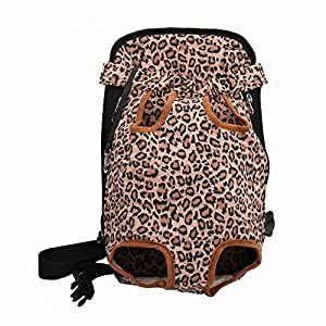 DENTRUN Legs-Out Front Pet Dog Carrier,Hands-Free Adjustable Backpack Travel Bag for Small Medium Puppy Doggie Cat Bunny Breeds