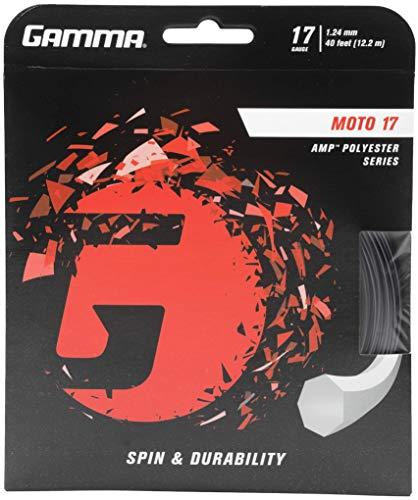 Gamma Tennissaite Moto 17 Set, schwarz, 12.2 m, GZMO-13
