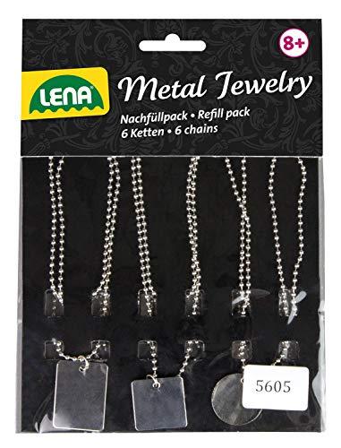 Lena Recambio con 6 Collares y Colgantes de Metal Grabado 42655. Juego complementario para Estudio de Joyas. (SiMM Spielwaren GmbH 42657)