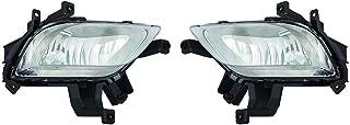 CarLights360: Fits 2014 2015 2016 KIA FORTE Fog Light Pair Driver and Passenger Side W/Bulbs (CAPA Certified) Replaces KI2592133 KI2593133