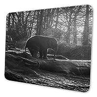 ゲーミングマウスパッド - かわいい象のアニマの森のヴィンテージパターン マウスパッド おしゃれ ゲームおよびオフィス用/防水/洗える/滑り止め/ファッショナブルで丈夫 25x30cm