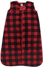 Hudson Baby Unisex Baby Long-Sleeve Plush Sleeping Bag, Sack, Blanket, Buffalo Plaid, 12-18 Months