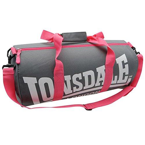 Lonsdale - Borsa sportiva 'Barrel', colore: Grigio/Rosa