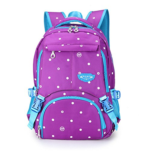 Camuflaje Punto Colorido úNico ImpresióN Bookbag Mujeres Oxford Impermeable Mochila Infantil Purple