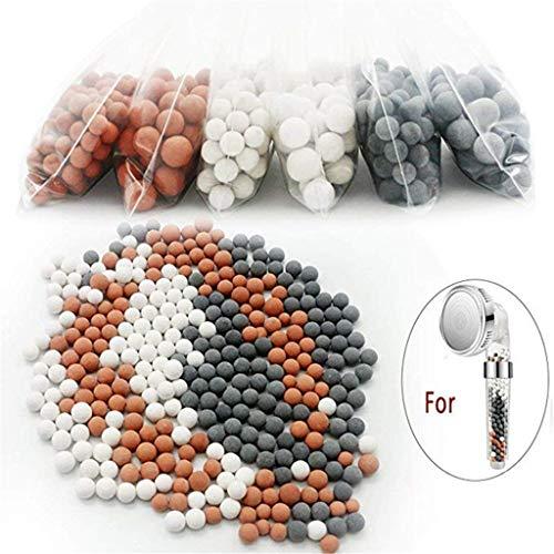 Bascar Ionic Filter Handbrause Duschfilter Energieball Ionic Duschkopf Filterkugel Ersatz Nature Energy Stone Ball Ersatz Ion Mineral Bälle für Dusche und Zusätzlichen Austauschbaren Stein